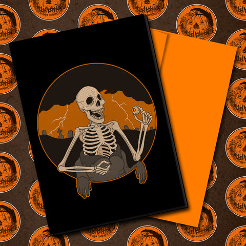 Skin Is Overrated Halloween Greeting Card