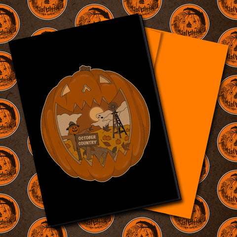 The October Country Halloween Greeting Card