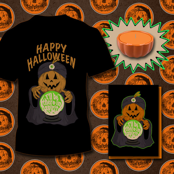 Halloween T-shirt & Pumpkin Candle Bundle