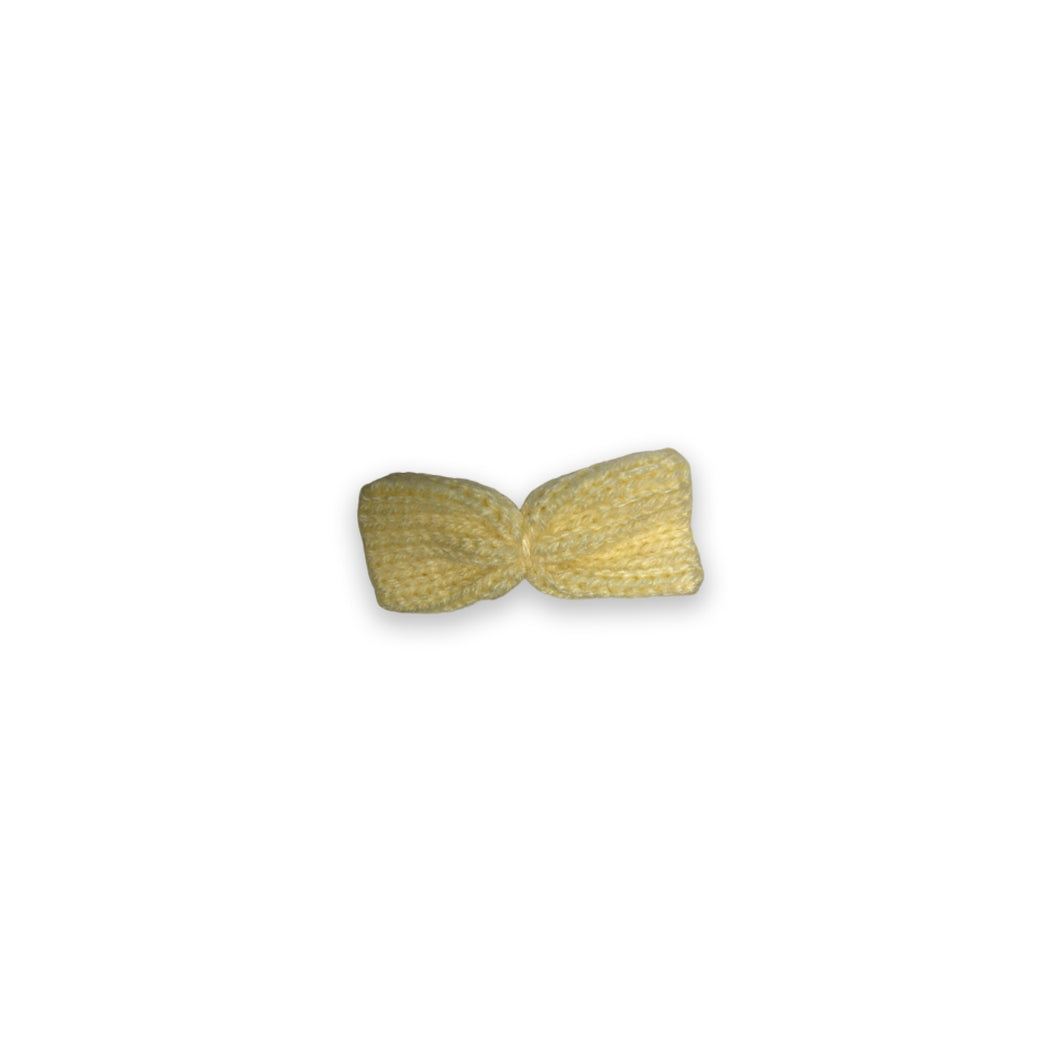 Ethically Made Wool Hair Clip, Bow