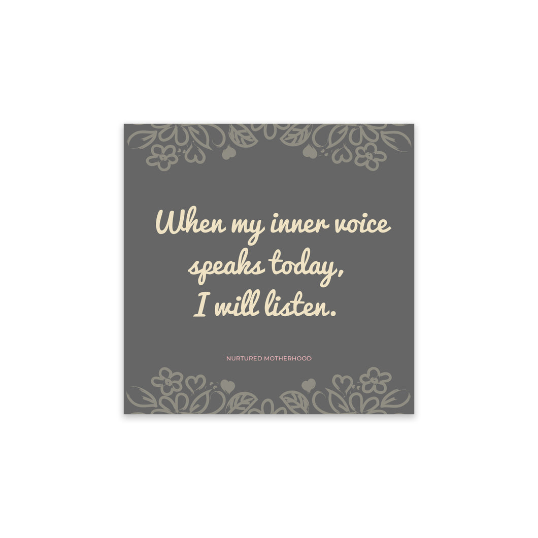 Momtra Card - When my inner voice speaks today...