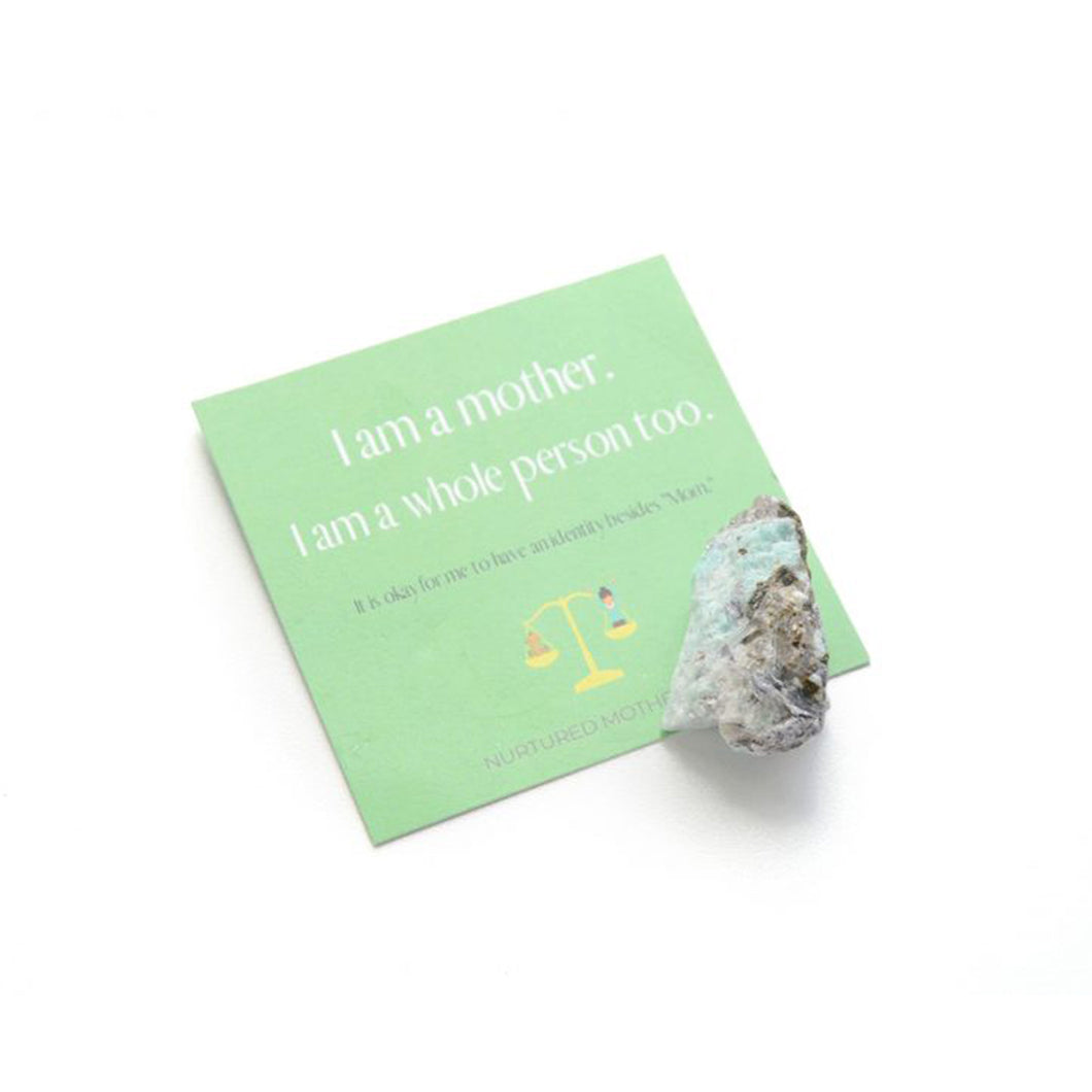 Raw Amazonite Stone + Momtra Card