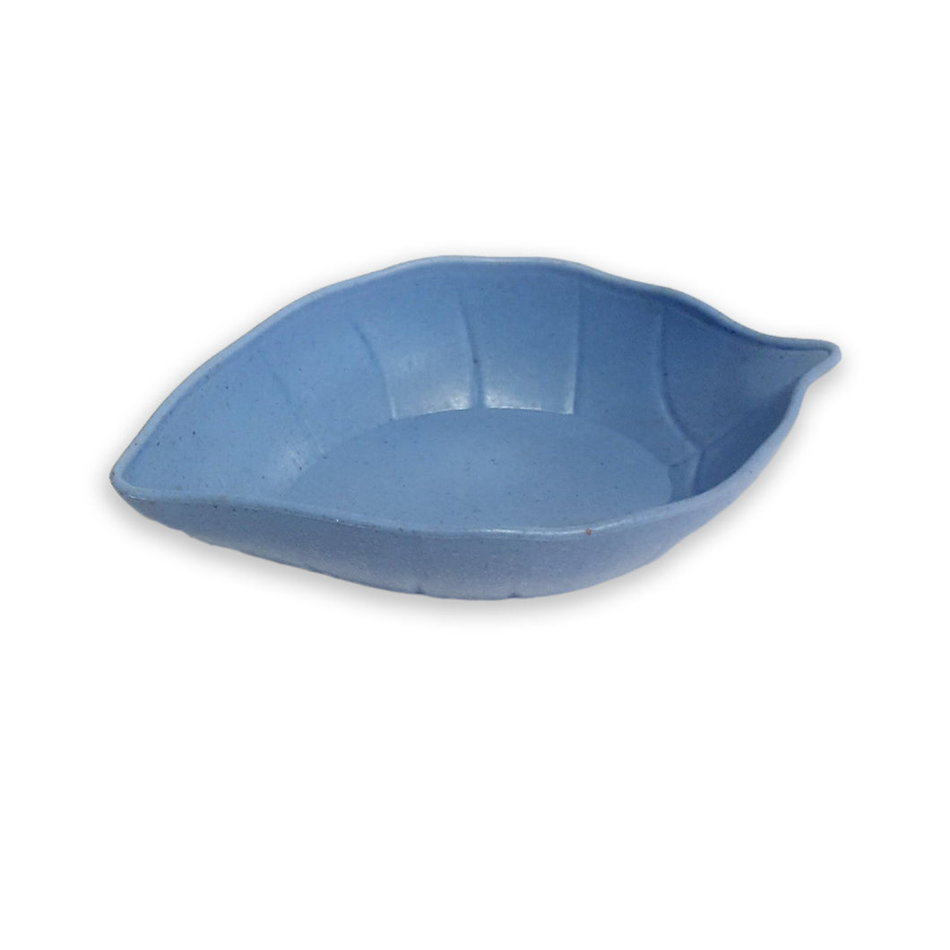 Leaf Wheat Fiber Dish (Blue)