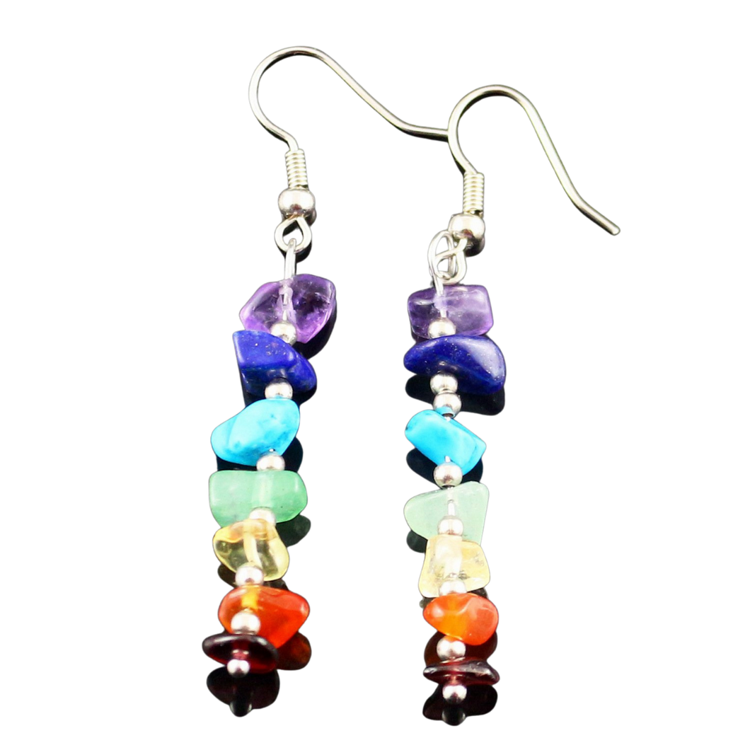 Seven Chakra Dangle Earrings
