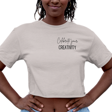 Load image into Gallery viewer, Celebrate Creativity Women's Cropped T-Shirt