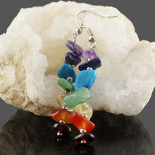 Load image into Gallery viewer, Seven Chakra Dangle Earrings