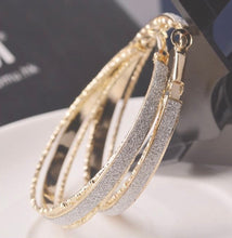 Load image into Gallery viewer, Golden Diva Hoop Earrings