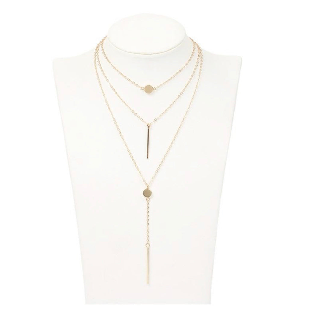 Triple Threat Layered Necklace