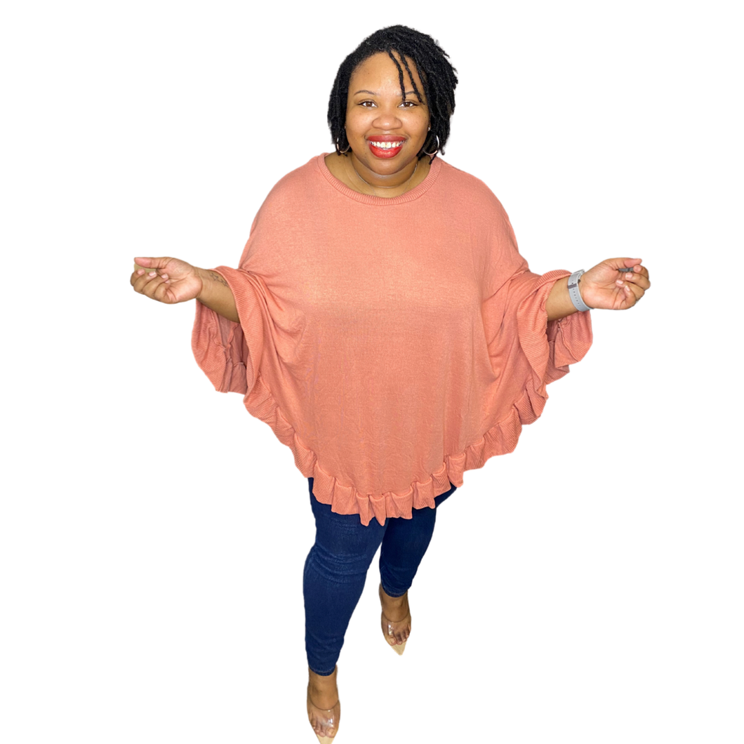 Peach Dreams Poncho