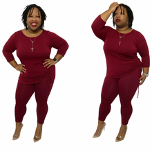 Load image into Gallery viewer, Wine Lover Top and Leggings Lounge Set