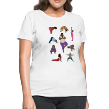Load image into Gallery viewer, Curvy Black Yoga Lover Women's T-Shirt - white
