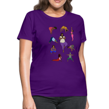 Load image into Gallery viewer, Curvy Black Yoga Lover Women's T-Shirt - purple