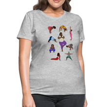 Load image into Gallery viewer, Curvy Black Yoga Lover Women's T-Shirt - heather gray