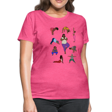 Load image into Gallery viewer, Curvy Black Yoga Lover Women's T-Shirt - heather pink