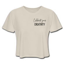 Load image into Gallery viewer, Celebrate Creativity Women's Cropped T-Shirt - dust