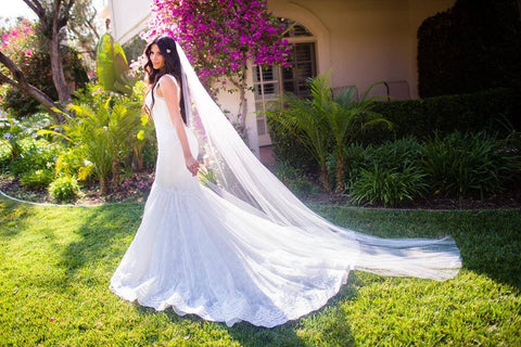 Bridal Illusion Tulle Cascading Cathedral Veil