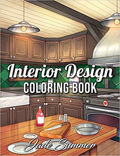 Interior Design Coloring Book