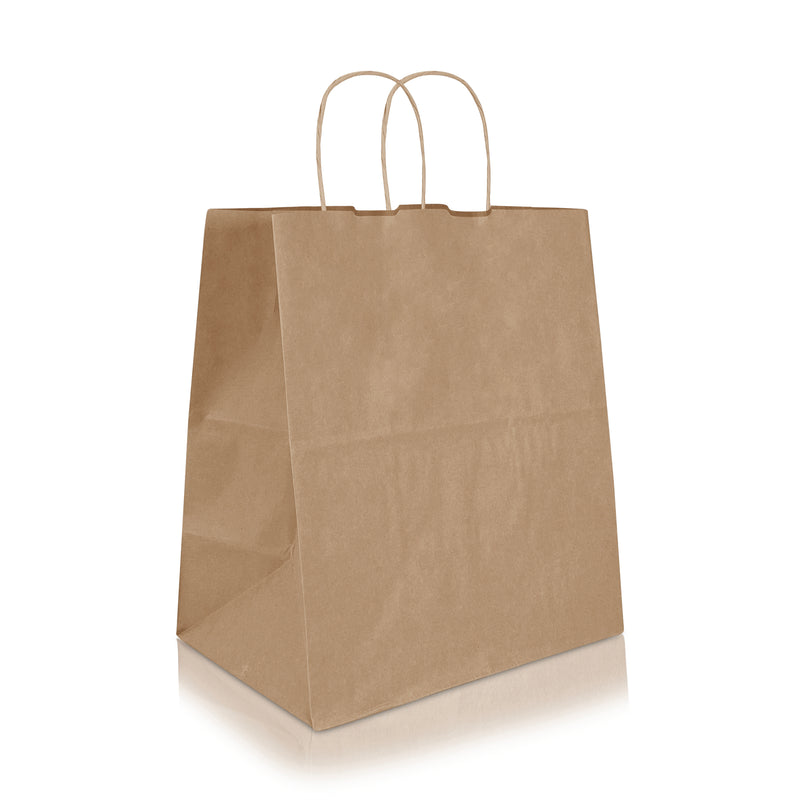 "TARA 11 1/3 x 7 x 12 1/2"" Inches Kraft Paper Shopping Bag"