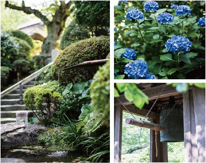 Three pictures of traditional Japanese nature