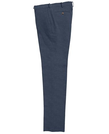 FLAT-FRONT COTTON TROUSERS [Slim]|SONDRIO