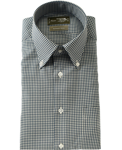 TOKYO SLIM FIT - FIRENZE Washable Wool Button Down Pinpoint Oxford