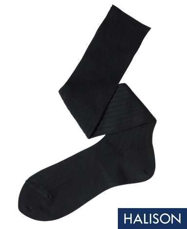 Cotton High Gauge Socks Dark Gray Longhose