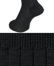 Load image into Gallery viewer, Cotton High Gauge Socks Dark Gray Longhose