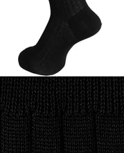 Load image into Gallery viewer, Cotton High Gauge Socks Black Longhose