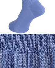 Load image into Gallery viewer, Cotton High Gauge Socks Marine Blue Longhose
