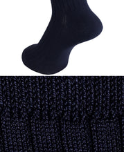 Load image into Gallery viewer, COTTON STRETCH SOCKS Navy Longhose