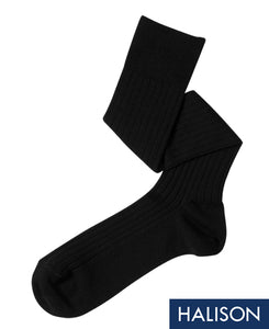 Wool Stretch Socks Black Longhose