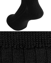 Load image into Gallery viewer, Wool Stretch Socks Black Longhose