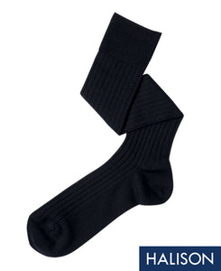 Wool Stretch Socks Navy Longhose