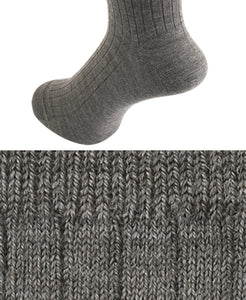 Wool Stretch Socks Taupe Longhose