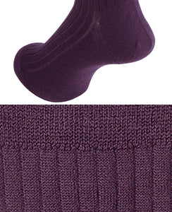 KNEE HIGH SOCKS - Cotton Cashmere High Gauge