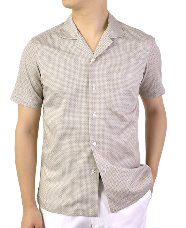 Short Sleeve Shirt - CASUAL Open-collar Broadcloth