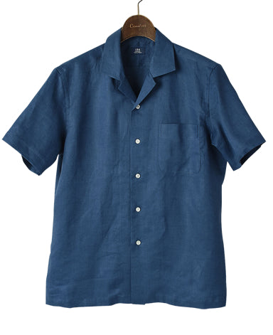 Short Sleeve Shirt - CASUAL Open-collar Linen