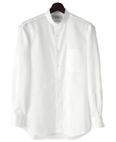 CASUAL SHIRT Band Collar Broadcloth