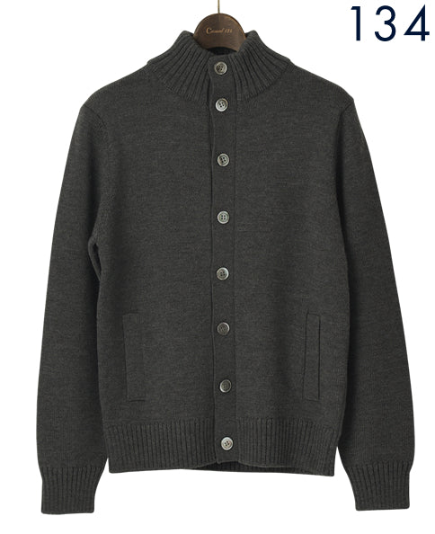 LOW GAUGE STAND CARDIGAN Wool