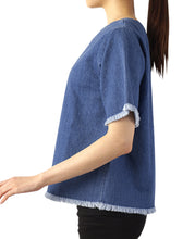 Load image into Gallery viewer, WOMEN CASUAL Crew Neck Denim