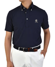 Load image into Gallery viewer, Silver Club Golf Polo Shirt Button Down