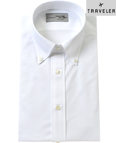 TOKYO JERSEY KNIT - TRAVELER Button Down Cotton Polyester 46G
