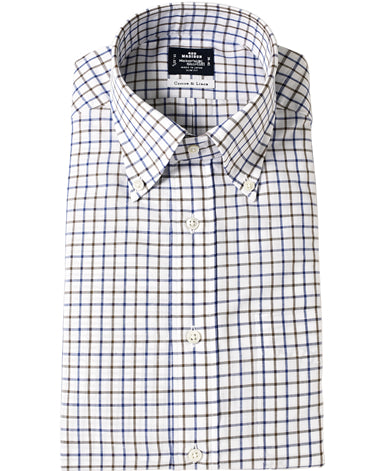 NEW YORK SLIM FIT - Button Down Cotton Linen Button Down Cotton Linen