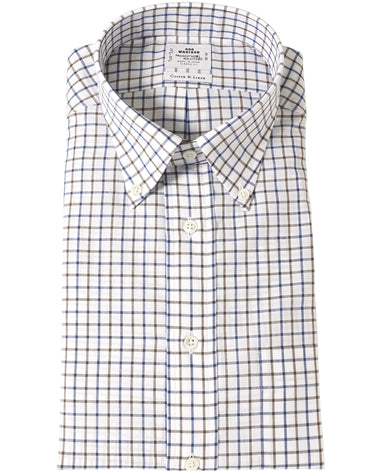 NEW YORK CLASSIC FIT Button Down Cotton Linen