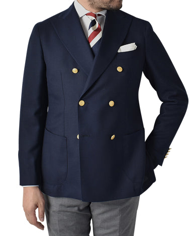 ITALIAN DOUBLE GOLD BUTTON JACKET