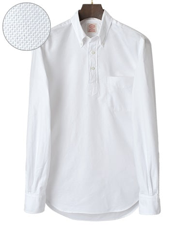 VINTAGE IVY Button Down Popover Oxford