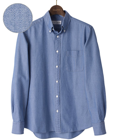 134 CASUAL SHIRT - UNTUCKED Button Down Denim