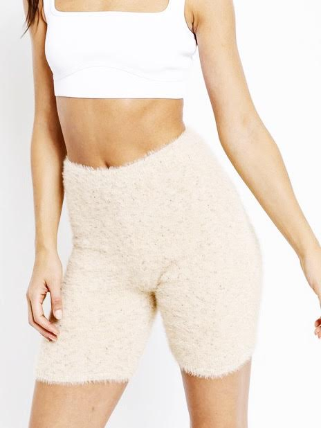 le lis sweater biker shorts