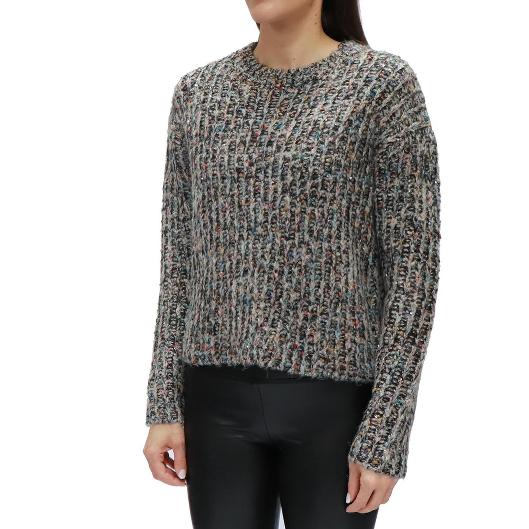 rd style cropped multi knit sparkle sweater
