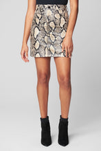 Load image into Gallery viewer, blank nyc against all odds snake printed faux mini skirt